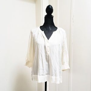 Joie Silk Button Front Blouse